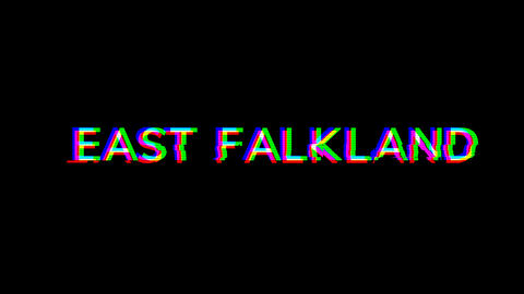 From the Glitch effect arises EAST FALKLAND. Then the TV… Stock Video Footage