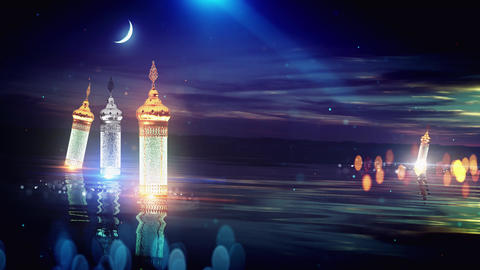 Ramadan festival latern background Animation