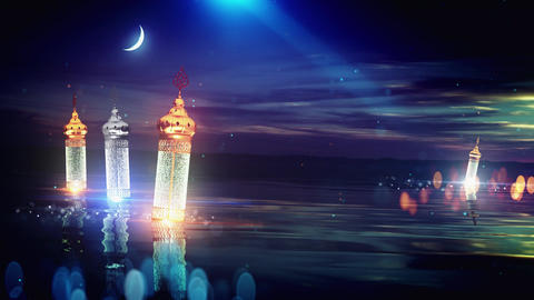 Ramadan festival latern background, Stock Animation