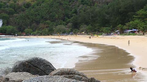 Nai Harn beach,Phuket Thailand Footage