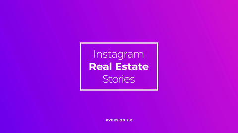 Instagram Real Estate Stories v2 After Effectsテンプレート