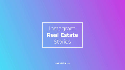 Instagram Real Estate Stories v2 Motion Graphics Template
