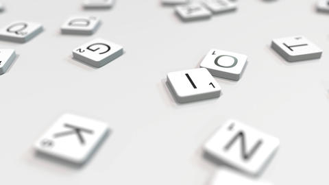 Composing IDEA word with scrabble letters. Editorial 3D animation ライブ動画
