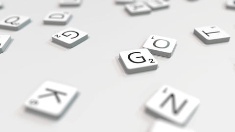 GAME word being composed with scrabble letters. Editorial 3D animation ライブ動画