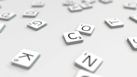 Composing CREATE word with scrabble letters. Editorial 3D animation ライブ動画