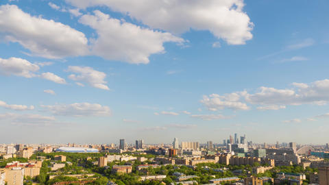 Timelapse residential urban area of Moscow city. Panorama... Stock Video Footage