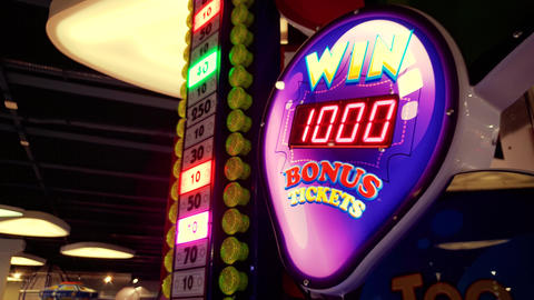 4k footage of colorful neon display in casino. Get your... Stock Video Footage