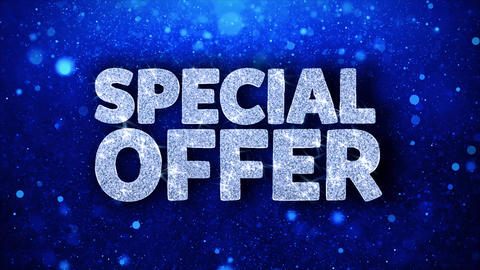 Special Offer Blue Text Wishes Particles Greetings, Invitation, Celebration Live Action
