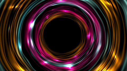 Glowing neon colorful ring circles video animation Animation