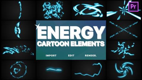 Cartoon Energy Elements Motion Graphics Template