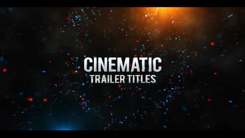 Cinematic Trailer Titles After Effects Template