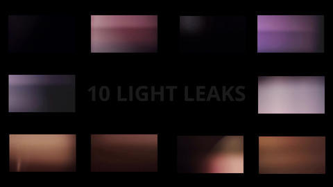 10 Light Leaks After Effects Template