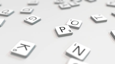 PORTO city name being composed with scrabble letters. Editorial 3D animation ライブ動画