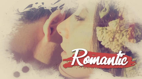 Romantic ink slideshow (After Effects template) After Effects Template