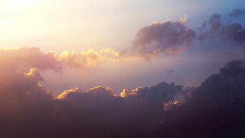 Beautyful sunset Stock Video Footage