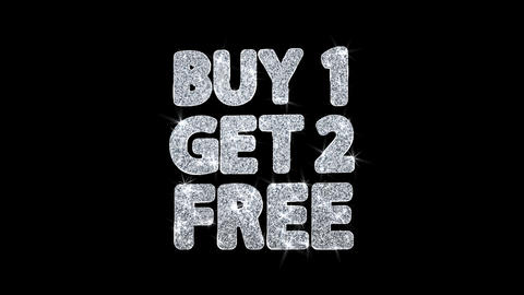 Buy 1 Get 2 Free Blinking Text Wishes Particles Greetings, Invitation Footage