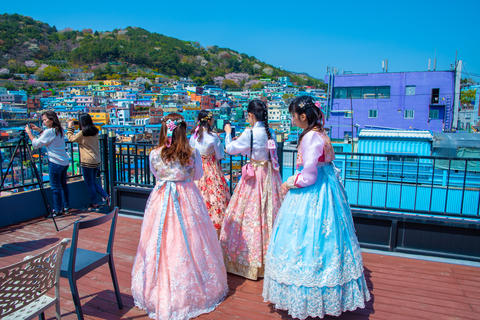 Gamcheon Culture Village, Busan, South Korea travel. It is popular with many tourists.Popular Korean Photo
