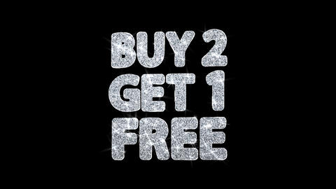 Buy 2 Get 1 Free Blinking Text Wishes Particles Greetings, Invitation Footage