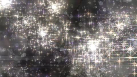 キラキラエフェクトの連続花火-ホワイト/黒背景 CG動画