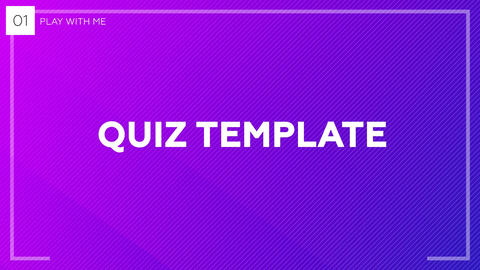 Quiz / Trivia Template After Effectsテンプレート