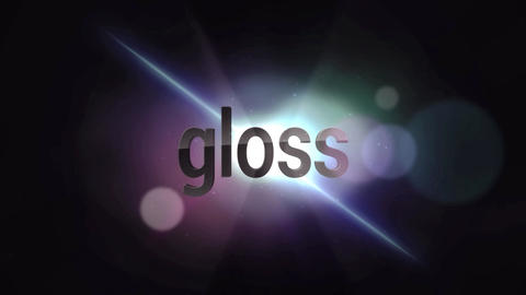 Gloss Title/Logo Reveal After Effects Template