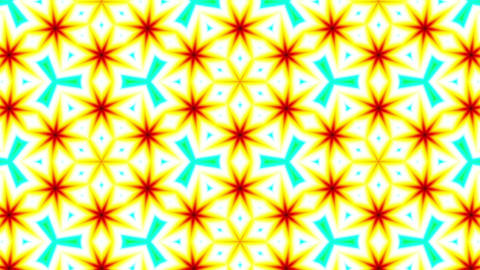Pattern Explosions Colored Seamless Loop Animation
