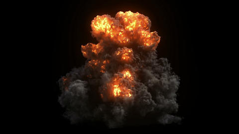Large powerful explosion Animation