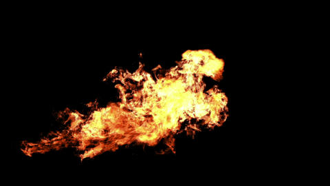 A powerful stream of flame thrower Animation