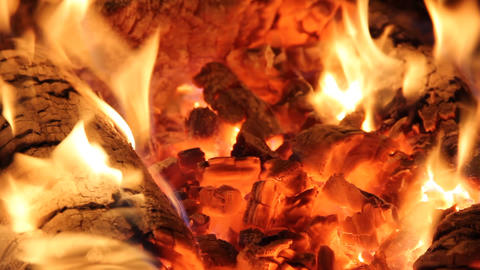 Hot Fire And Coals Background stock footage