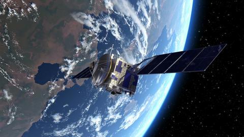 Satellite Deploys Solar Panels In Space Animation