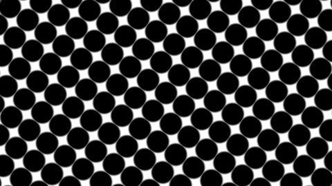 Big black polka dots - simple retro pattern for creative, 3d render, black polka Footage