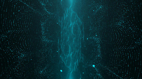 Blue Particle Looped Background 14 GIF