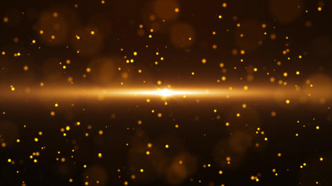 Gold Particle Looped Background 06 Animation
