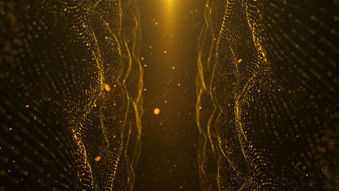 Gold Particle Looped Background 03 GIF