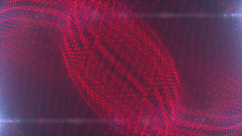 Abstract Red Particle Looped Background 10 Animation