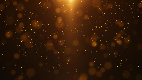 Gold Particle Looped Background 12 Animation