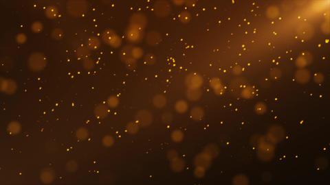 Gold Particle Looped Background 09 Animation