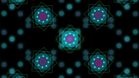 Moving and flickering patterns of squares Footage