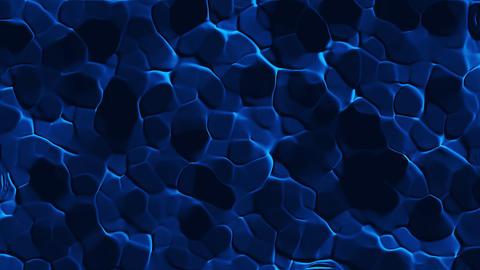 Cellular mosaic pattern like bottom of pool with water, 3d render, computer Footage