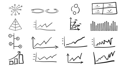Graphs and diagrams in the style of drawing Animation