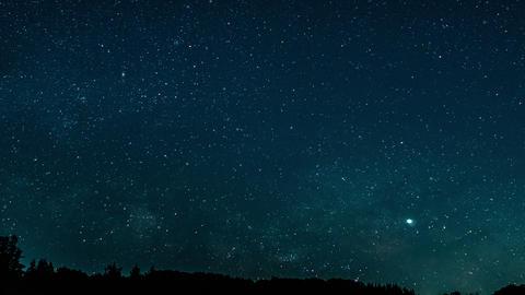 天の川と輝く星空 CG動画