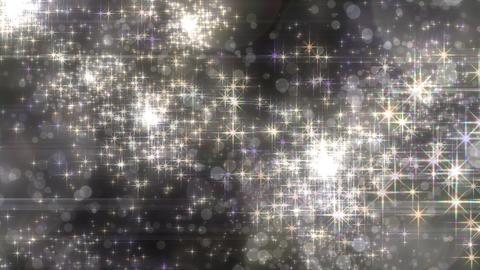 キラキラエフェクトの連続花火-ホワイト/透過背景 CG動画