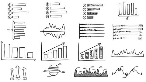 Black drawn infographics Animation