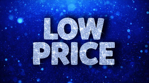 Low Price Blue Text Wishes Particles Greetings, Invitation, Celebration Footage