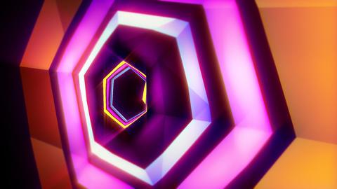 Intense Hexa VJ Tunnel Background Animation