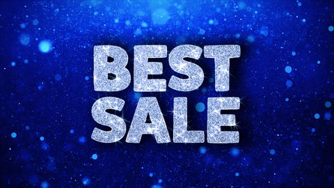 Best Sale Blue Text Wishes Particles Greetings, Invitation, Celebration Live Action