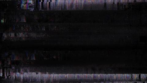 Old TV Glitch Color Disturbances On A Black Background HD Animation