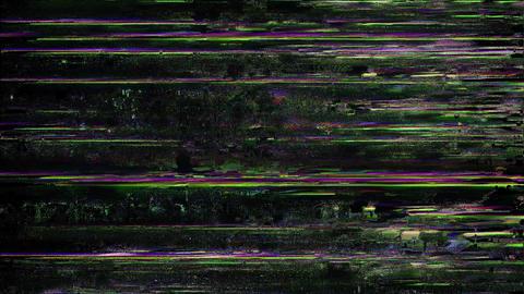 Cougar Glitch. Computer Screen Error. No Signal Animation