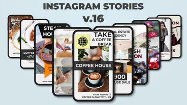 Instagram Stories v 16 After Effects Template
