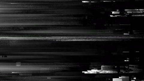 Glitch TV Static Noise Distorted Signal Problems Stats Animation
